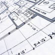 Stock Photo: Blueprints
