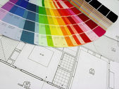 σχέδια και χρώμα — Φωτογραφία Αρχείου