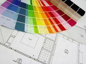 Pläne und farbe — Stockfoto
