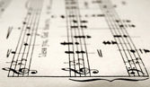 Sheet music — Stockfoto