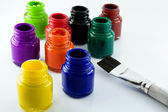 Paint pots — Stock Photo