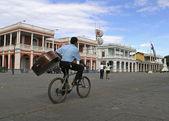 Boy on bike granada nicaragua — Stock Photo