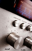 Old dirty fm tuner — Stock Photo