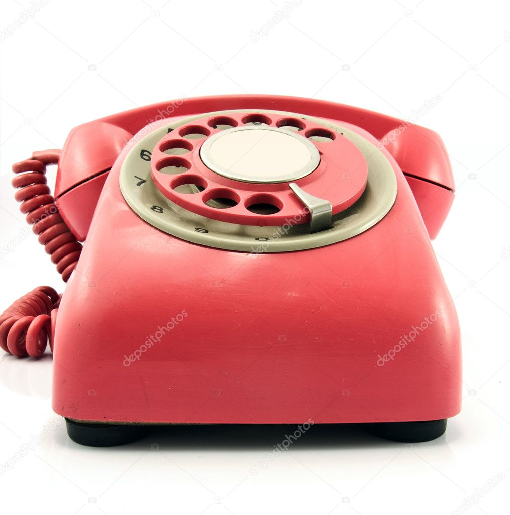 big red retro red phone — Stock Photo #2645389