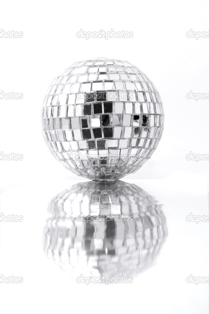 Old disco ball and reflection — Stock Photo #2648838