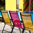 Deckchairs, — Stock Photo