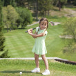 ragazza di golf — Foto Stock