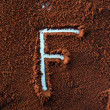 Stock Photo: F on cofee