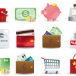 Shopping &amp; Consumerism icons set - Image vectorielle