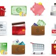 Shopping & Consumerism icons set - Stockvectorbeeld