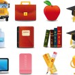Graduation, College and Education - Stock Vector