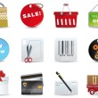 Shopping icon set — Imagen vectorial