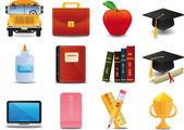 Graduación, universidad y educación — Vector de stock