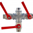 Pipes and valves for the water drain — Stock Photo