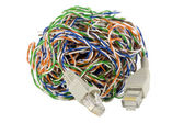 Isolated digital network world concept — Stock Photo
