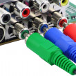 RGB video connectors - Foto Stock
