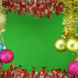 New Year's garland  colour balls - Stock Photo