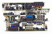 Broken electronic boards garbage dump — Stock Photo