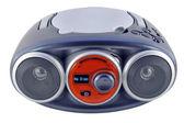 Izolované modré rádio zařízení — Stock fotografie