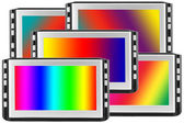 Displays with spectral screens — Stock Photo
