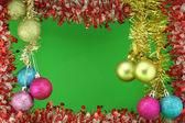 Sfere di colore ghirlanda del nuovo anno — Foto Stock