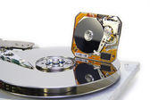 Hard disks diameter of 3.5 and 1 inc — Stock Photo