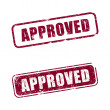 "An ""Approved"" rubber stamp with white background — Stock Photo #2580585"
