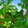 Beautiful tropical forest — Stock Vector
