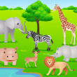 Royalty-Free Stock Imagen vectorial: Safari Africa
