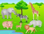 Safari africa — Vector de stock