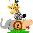Funny animal cartoon — Vector de stock