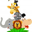 Funny animal cartoon — Vector de stock #2665112