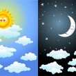 Day and night — Stock Vector