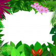 Royalty-Free Stock Vector Image: Tropical forest frame