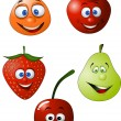 Stock Vector: Funny fruit cartoon