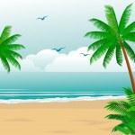 Tropical beach — Stock Vector #2665438