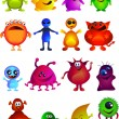 Collection of cute little monster — Imagen vectorial