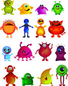 Collection of cute little monster — Stock Vector
