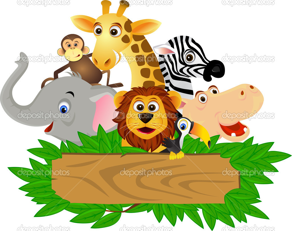 Vector illustration of funny animal cartoon — Stock Vector #2665035