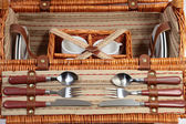Set of ware for picnic — Stock Photo