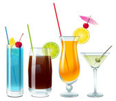 Alcoholic drinks for party — Stock Vector