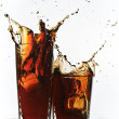 Royalty-Free Stock Photo: Cola original splash