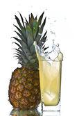 Pineapple juice splash — Stock Photo