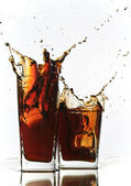 Cola original splash — Stock Photo