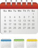 Kalendarz kolor — Wektor stockowy