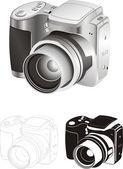 Digital camera — Stock Vector