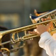 Royalty-Free Stock Photo: Gold trombones