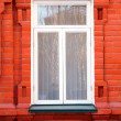 Window in the brick house — Stock Photo
