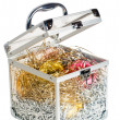 Royalty-Free Stock Photo: Opened box with decorations
