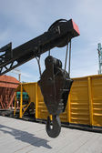 Railroad crane — Stock Photo